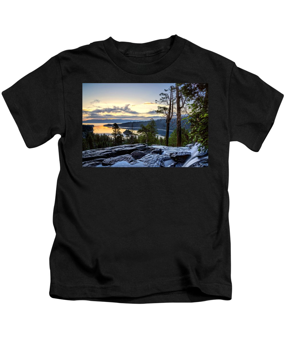 Bay Kids T-Shirt featuring the photograph Before Sunrise by Maria Coulson