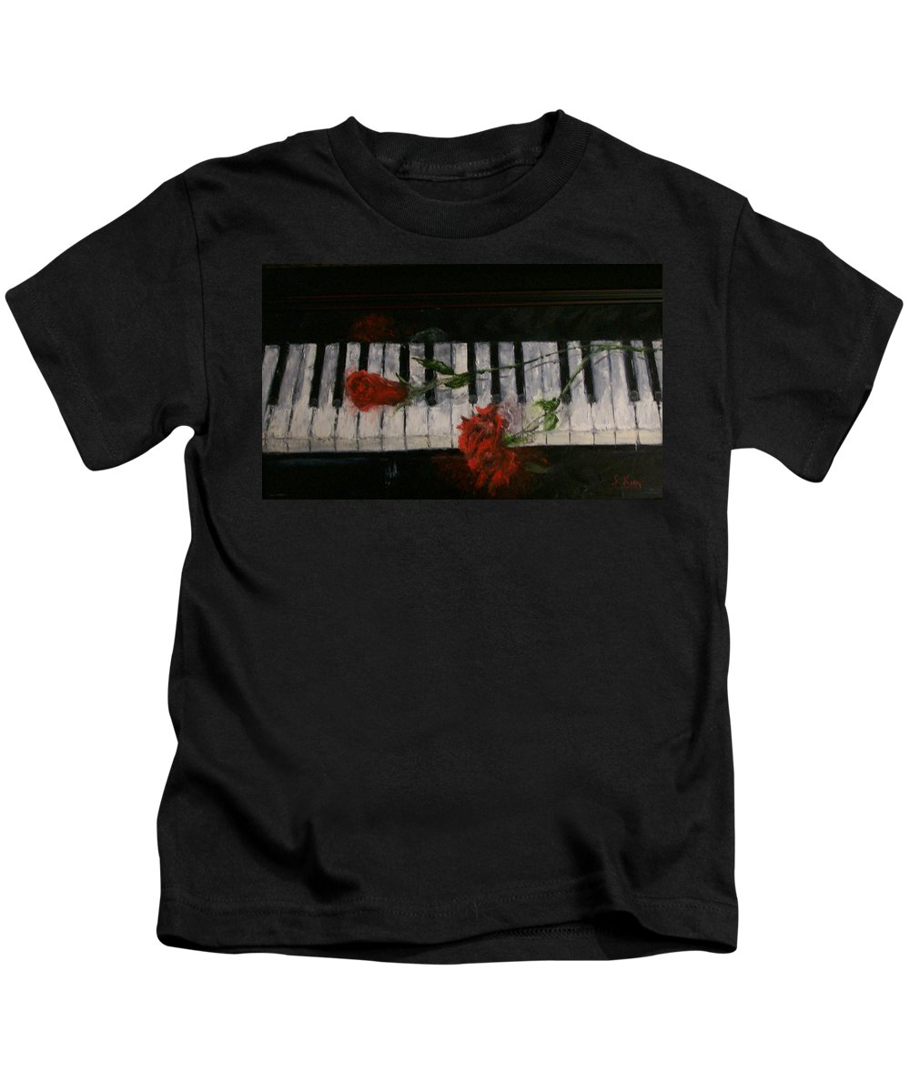 Still Life Kids T-Shirt featuring the painting Before The Concert by Stephen King