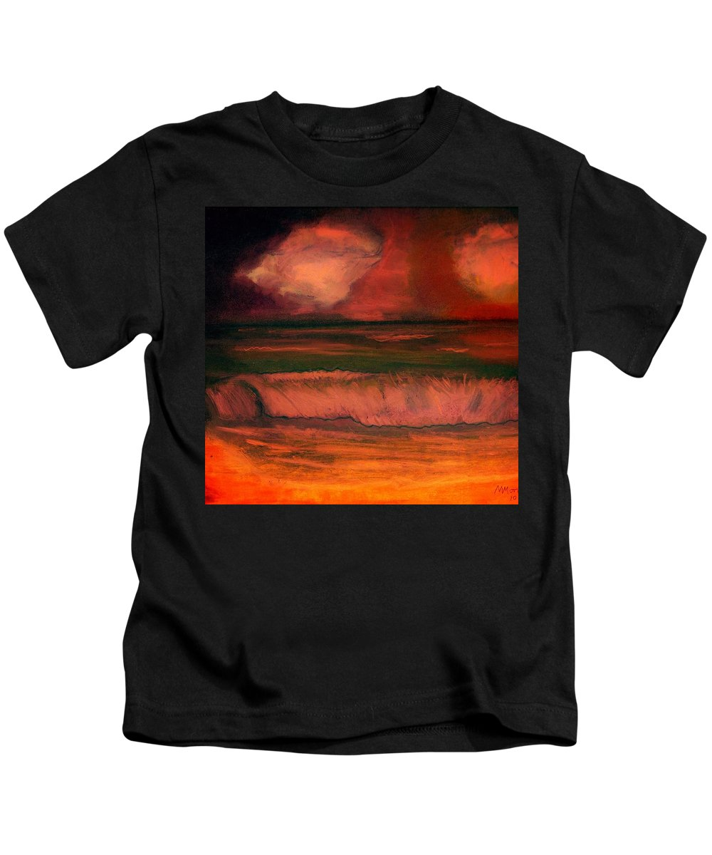Clouds Kids T-Shirt featuring the pastel Before The Storm by Melvin Moon