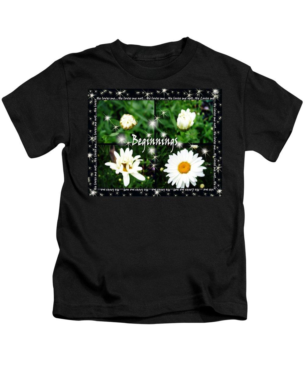Beginnings Kids T-Shirt featuring the photograph Beginnings by Cathy Beharriell