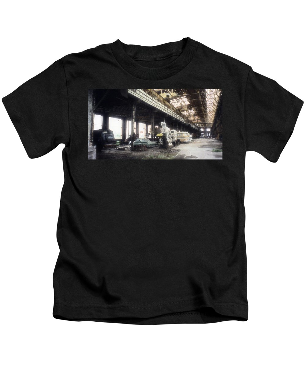 Abandoned Kids T-Shirt featuring the photograph Behind Closed Doors by Richard Rizzo