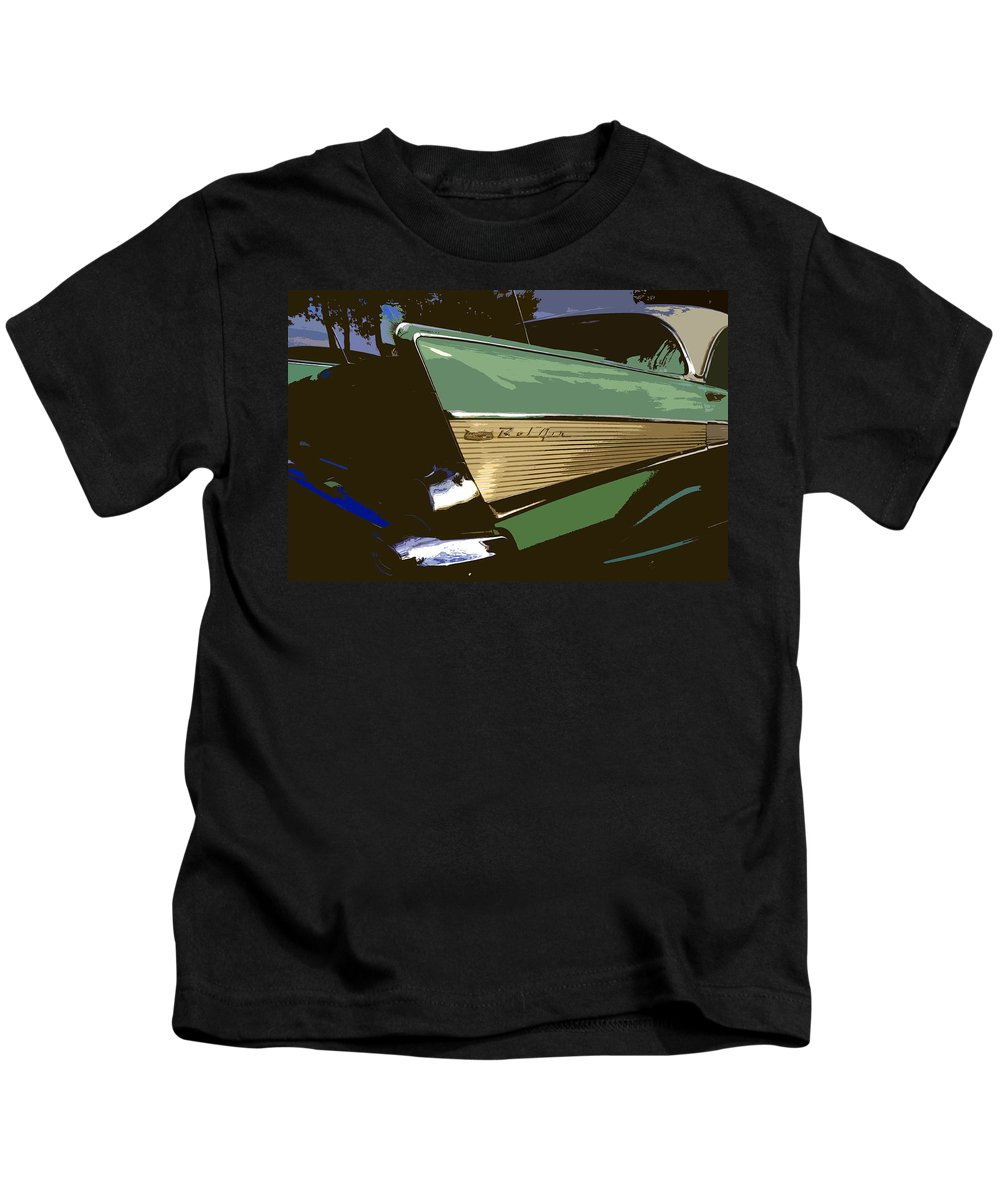 Chevy Kids T-Shirt featuring the painting Belair by David Lee Thompson