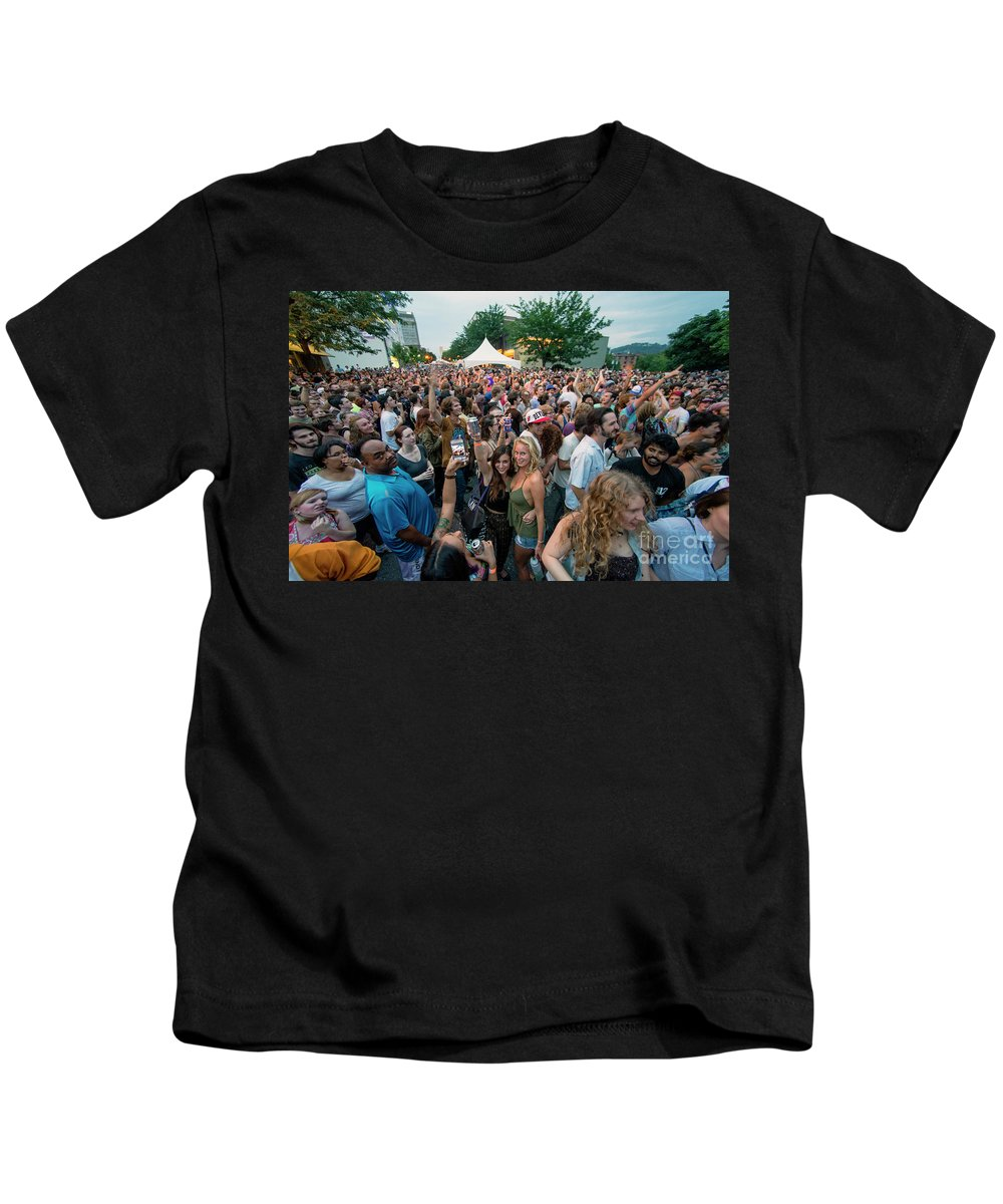 Asheville Kids T-Shirt featuring the photograph Bele Chere Festival Crowd by David Oppenheimer