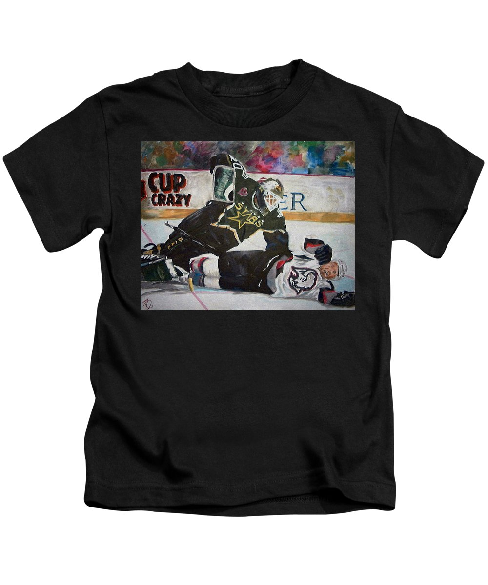 Belfour Kids T-Shirt featuring the painting Belfour by Travis Day
