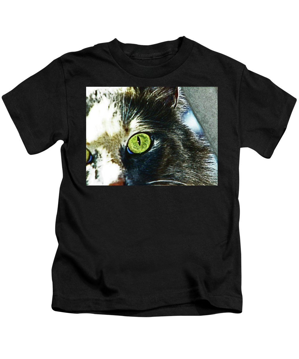 Abstract Kids T-Shirt featuring the photograph Beloved Shelby by Lenore Senior