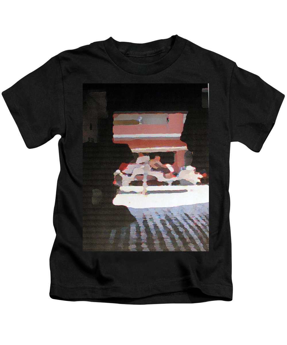 Bermuda Kids T-Shirt featuring the photograph Bermuda Carriage Impressions by Ian MacDonald