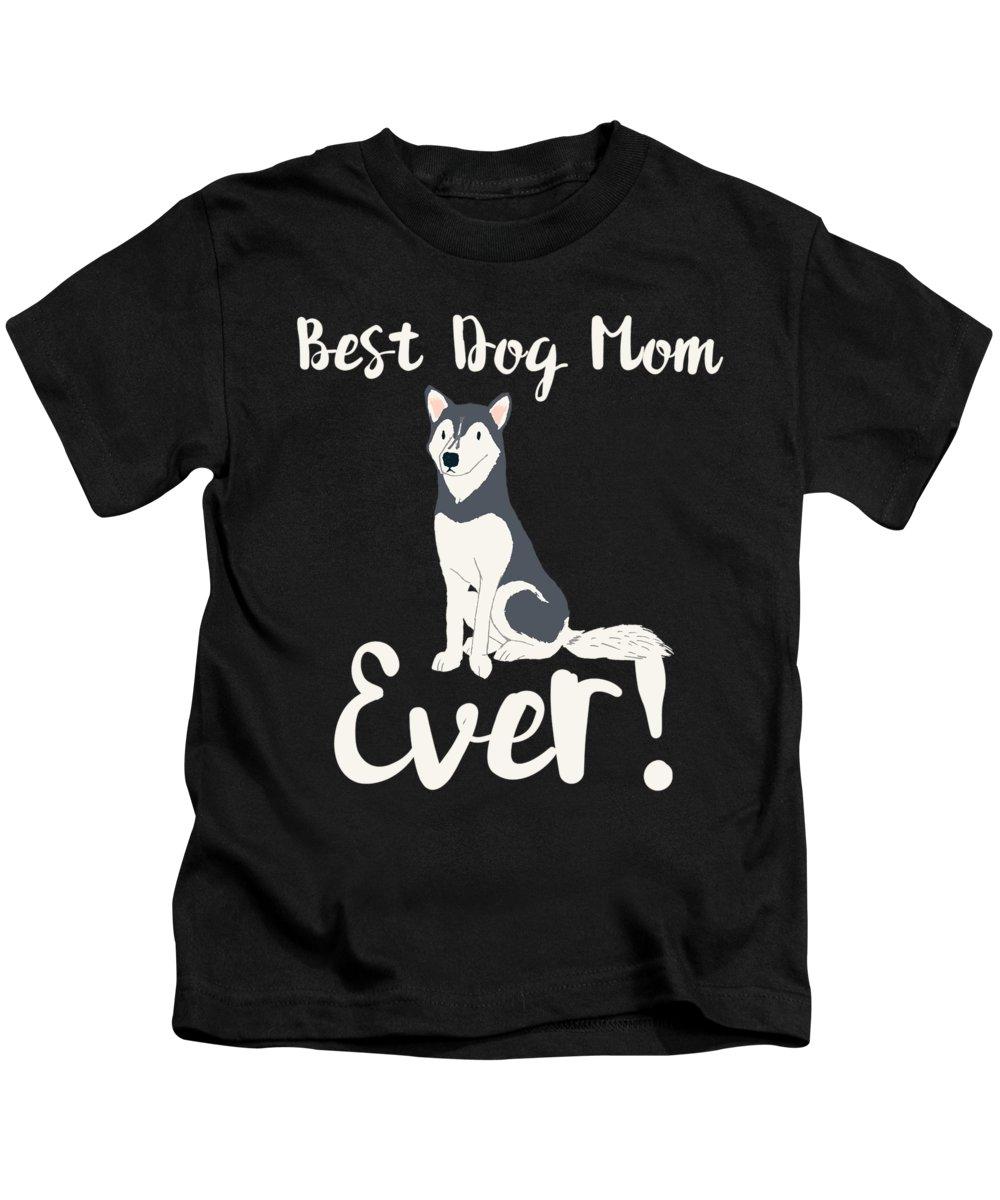 Beagle Kids T-Shirt featuring the digital art Bestdogmomever Husky by Kaylin Watchorn