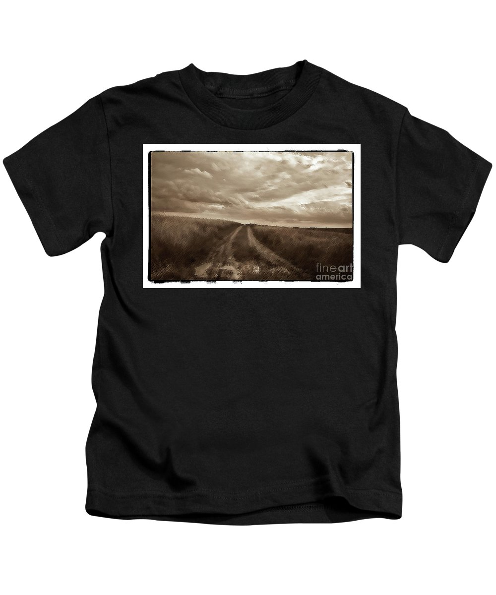 Poland Kids T-Shirt featuring the photograph Between The Fields, Poland by Michael Ziegler