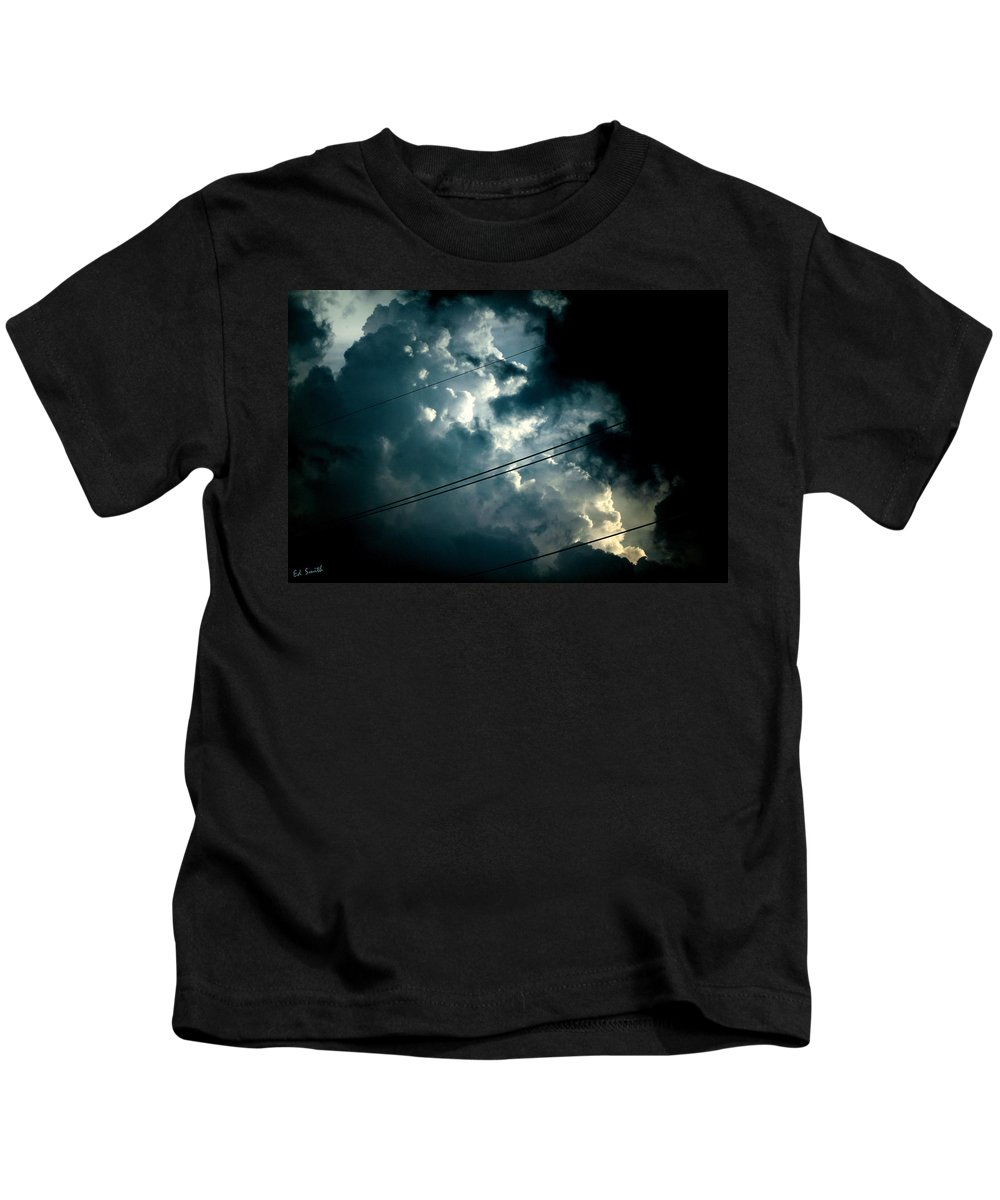 Beyond The Electric Fence Kids T-Shirt featuring the photograph Beyond The Electric Fence by Ed Smith