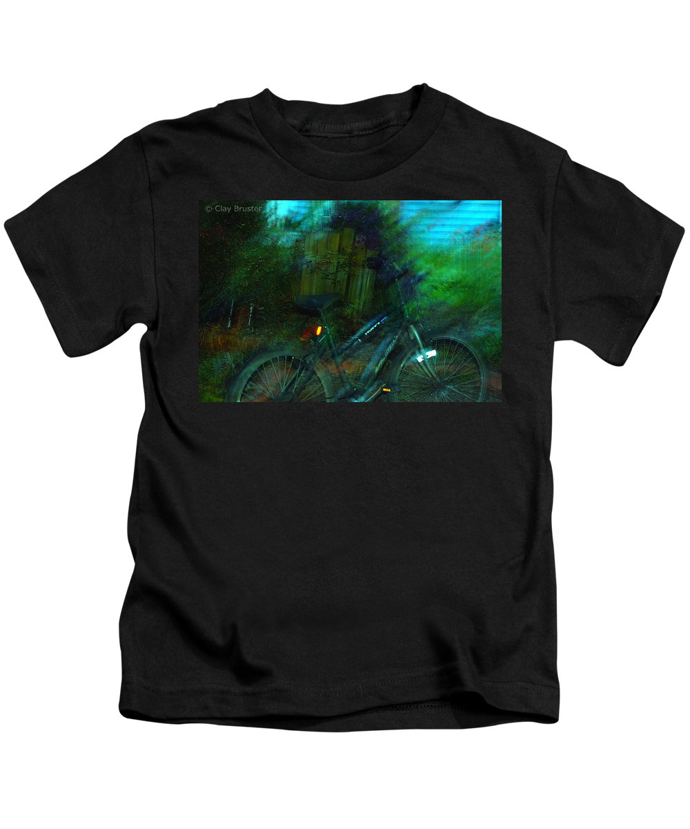 Clay Kids T-Shirt featuring the photograph Bicycle by Clayton Bruster