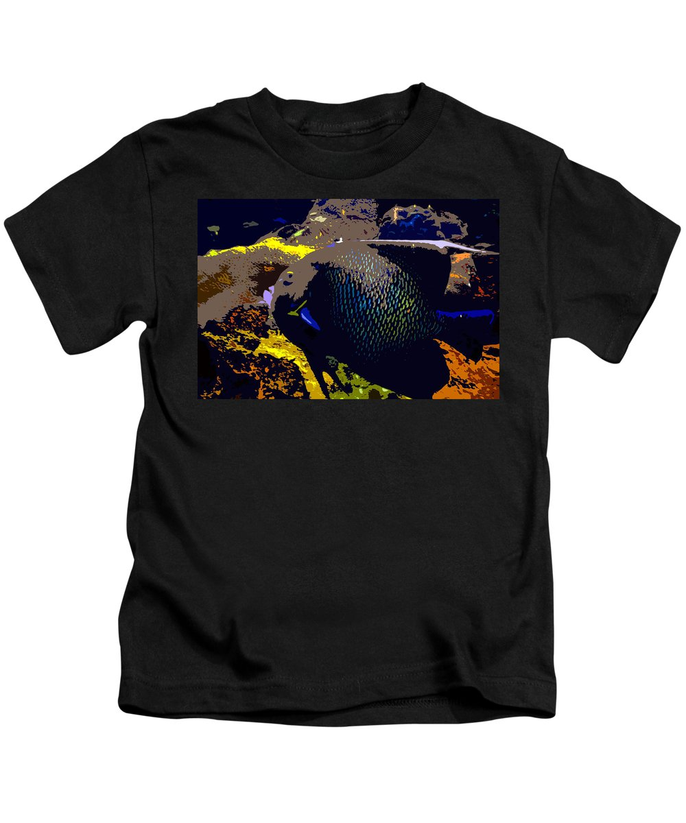 Fish Kids T-Shirt featuring the painting Big Fish by David Lee Thompson