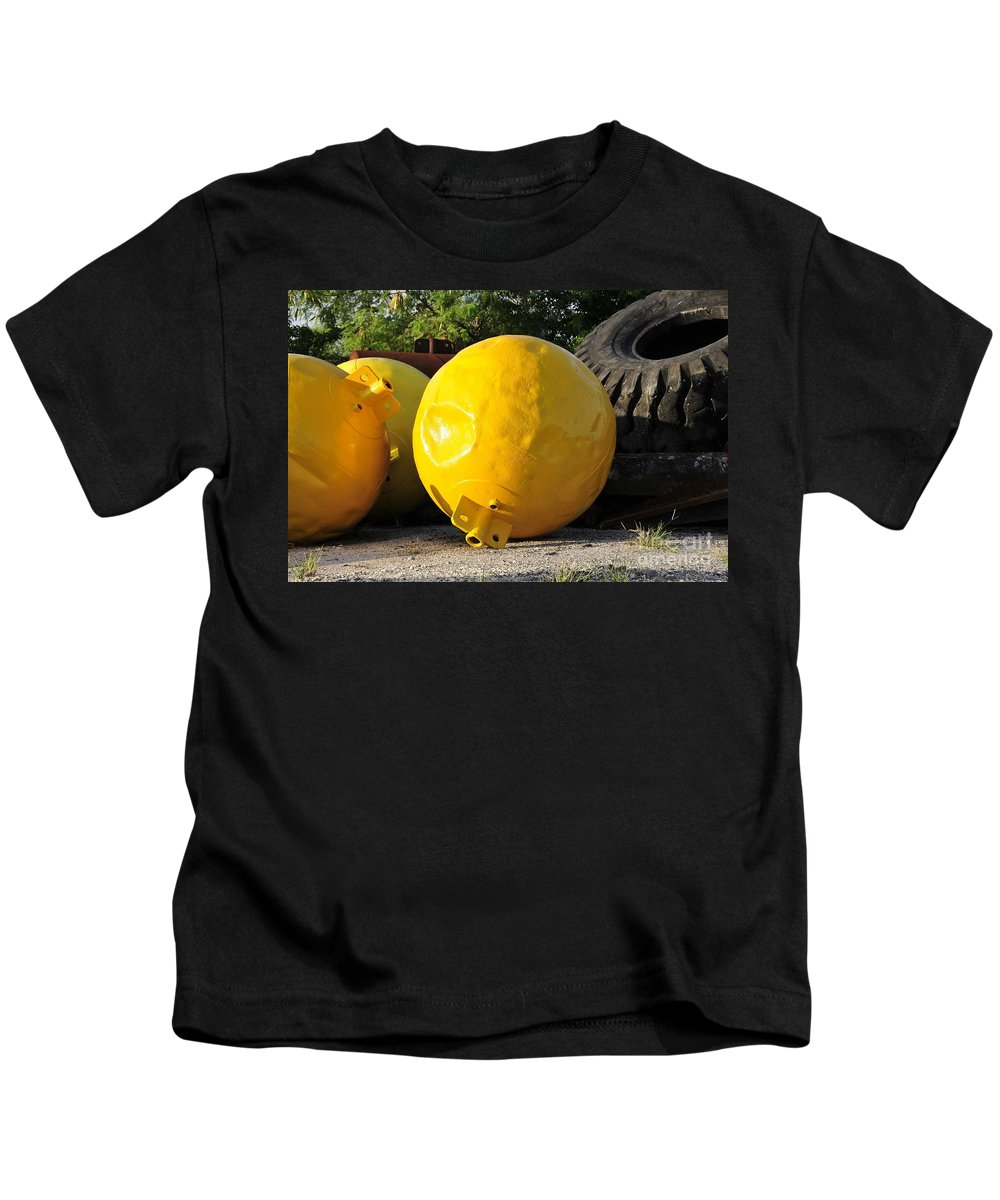 Yellow Kids T-Shirt featuring the photograph Big Yellow Balls by David Lee Thompson