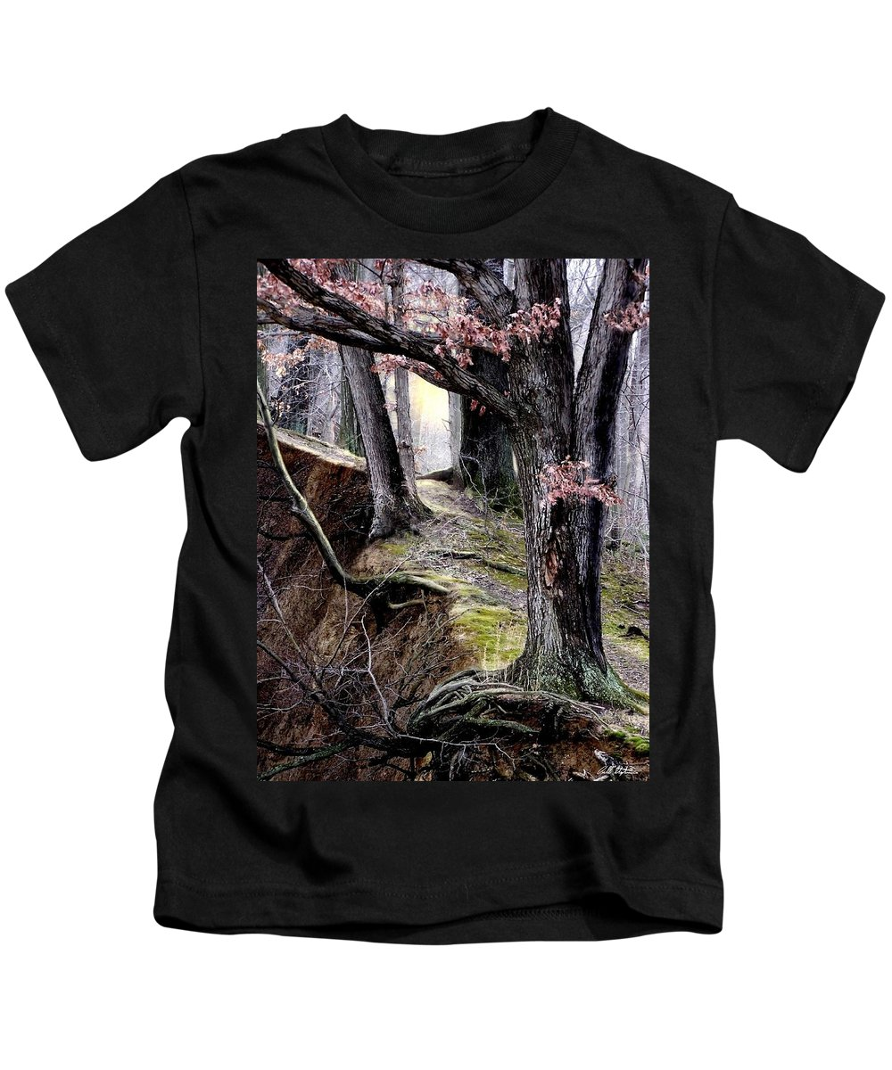 Nature Kids T-Shirt featuring the digital art Bilbow's Path by Bill Stephens