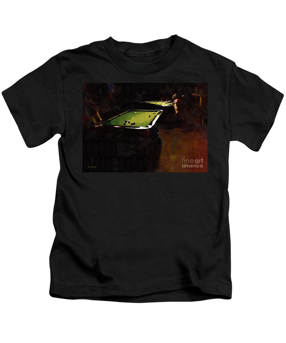 Billiards Kids T-Shirt featuring the painting Billiards Ballet by RC DeWinter