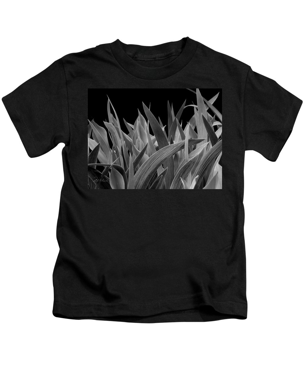 Black & White Kids T-Shirt featuring the photograph Biological Warfare by Frederic A Reinecke