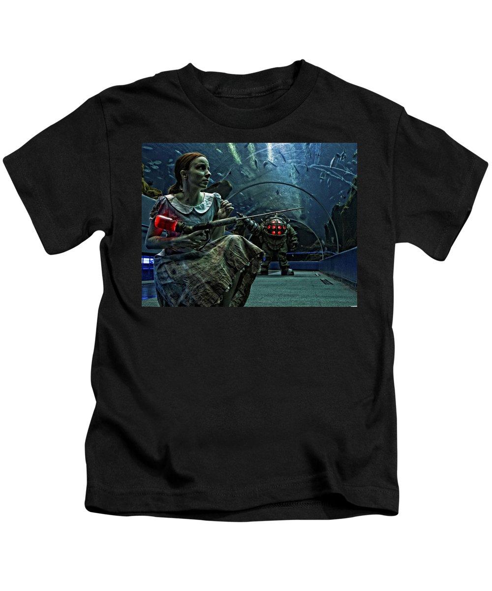 Bioshock Kids T-Shirt featuring the digital art Bioshock by Dorothy Binder