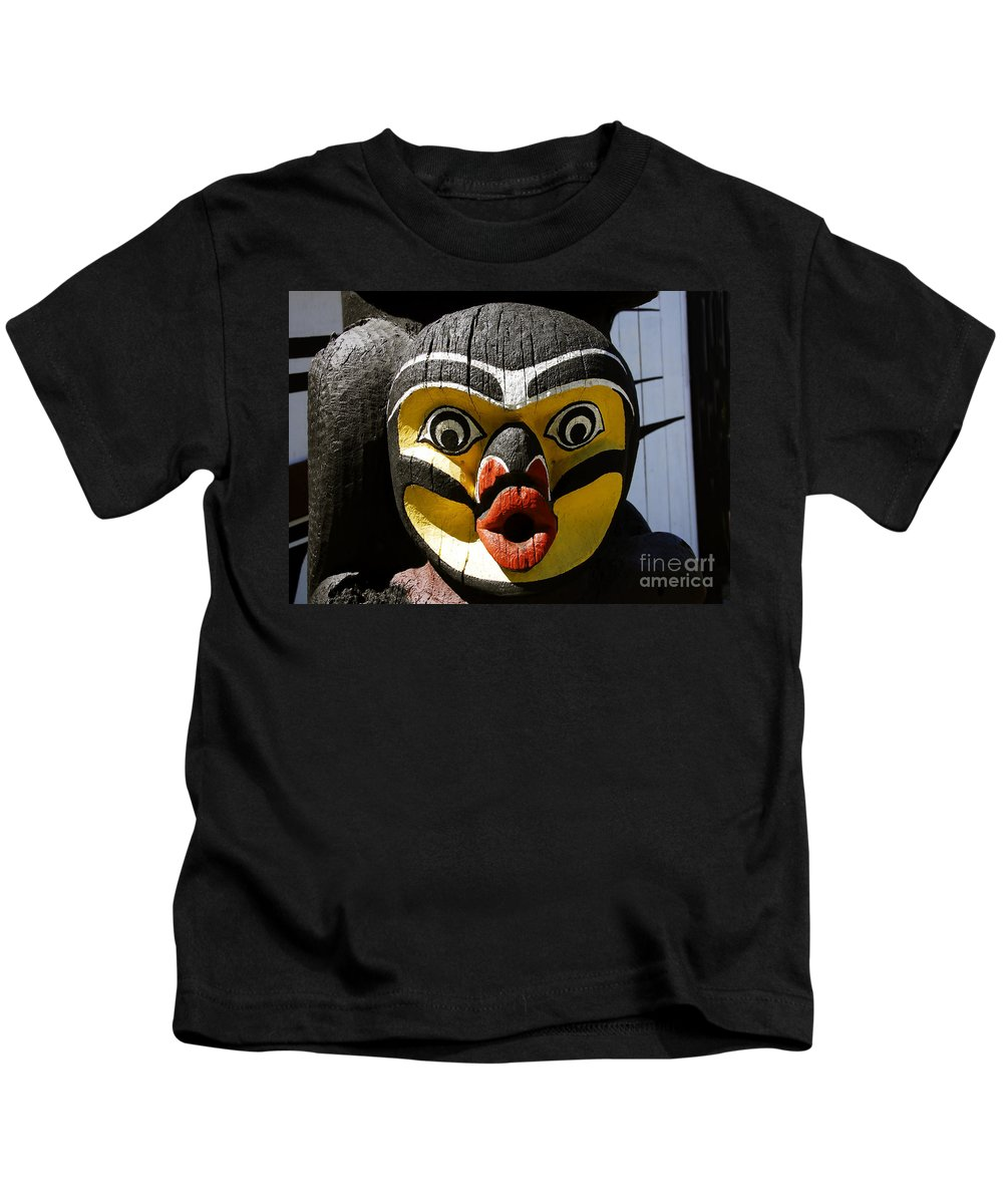 Totem Kids T-Shirt featuring the photograph Bird Man by David Lee Thompson