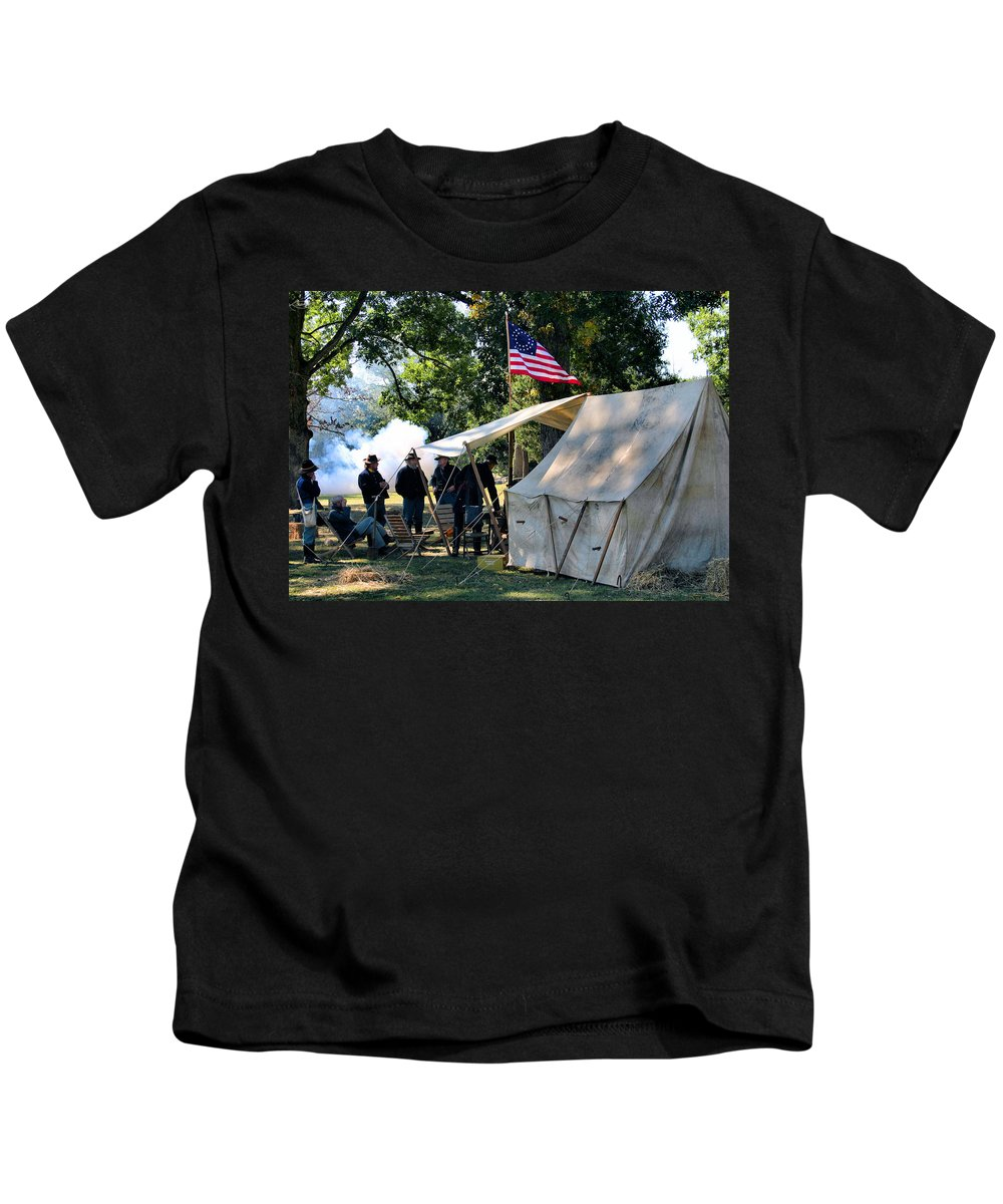 Civil War Kids T-Shirt featuring the photograph Bivouac by Kristin Elmquist