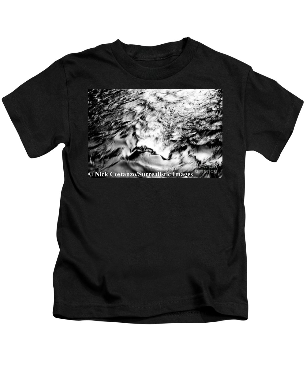 Fine Art Photography Kids T-Shirt featuring the photograph Black And Silver by Nicholas Costanzo