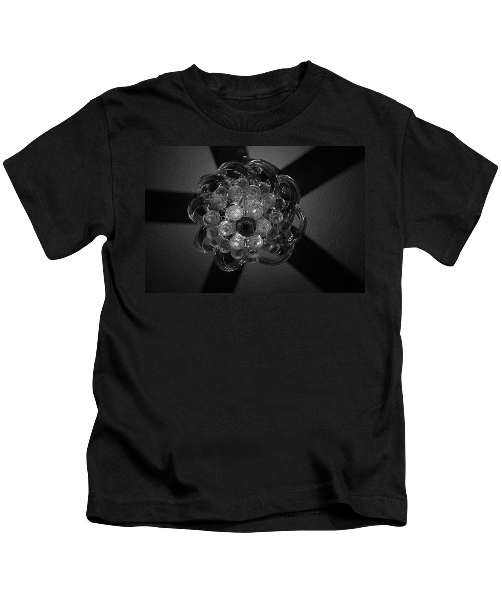 Fan Kids T-Shirt featuring the photograph Black And White Crystal by Rob Hans