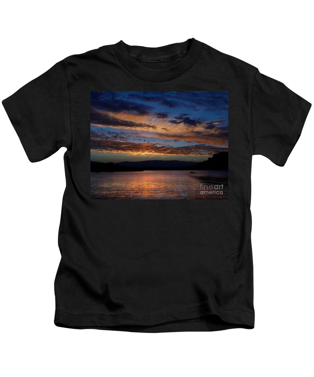 Black Butte Sunset Kids T-Shirt featuring the photograph Black Butte Sunset by Peter Piatt