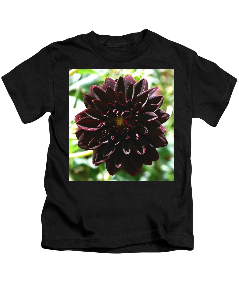 Flower Kids T-Shirt featuring the photograph Black Dalia by Dean Triolo