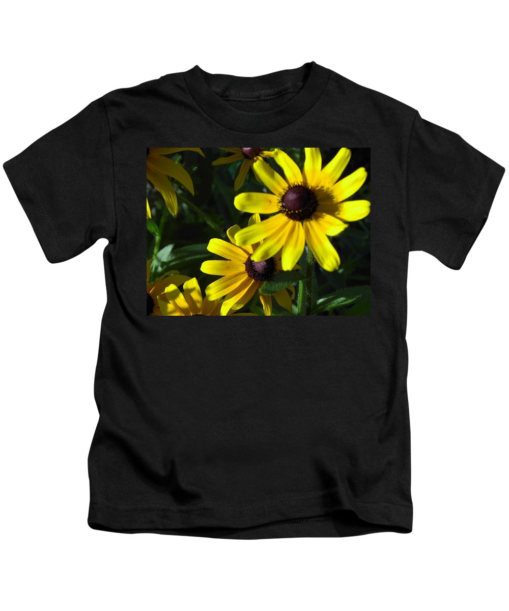 Charity Kids T-Shirt featuring the photograph Black Eyed Susan by Mary-Lee Sanders