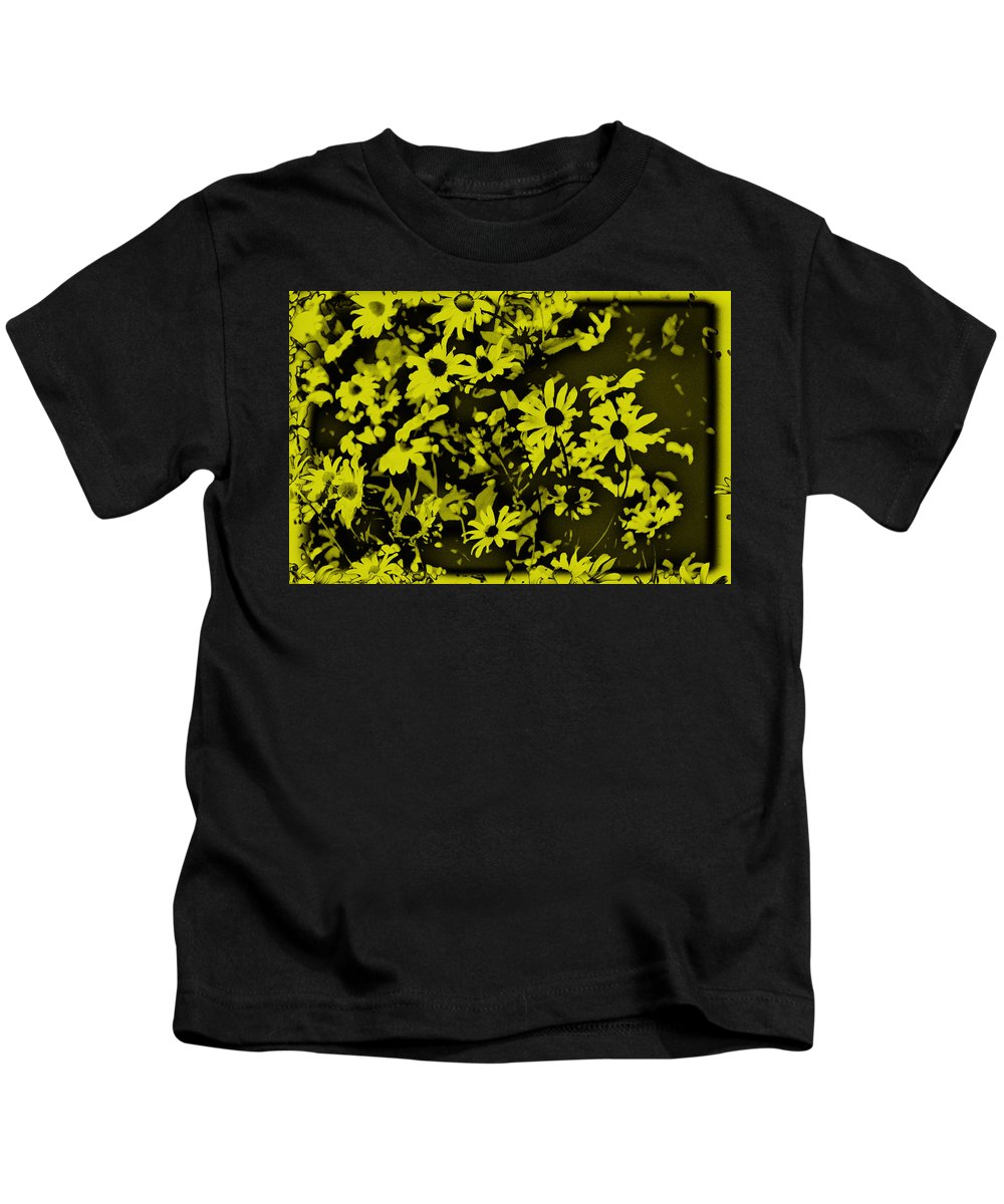 Flowers Kids T-Shirt featuring the photograph Black Eyed Susan's by Bill Cannon
