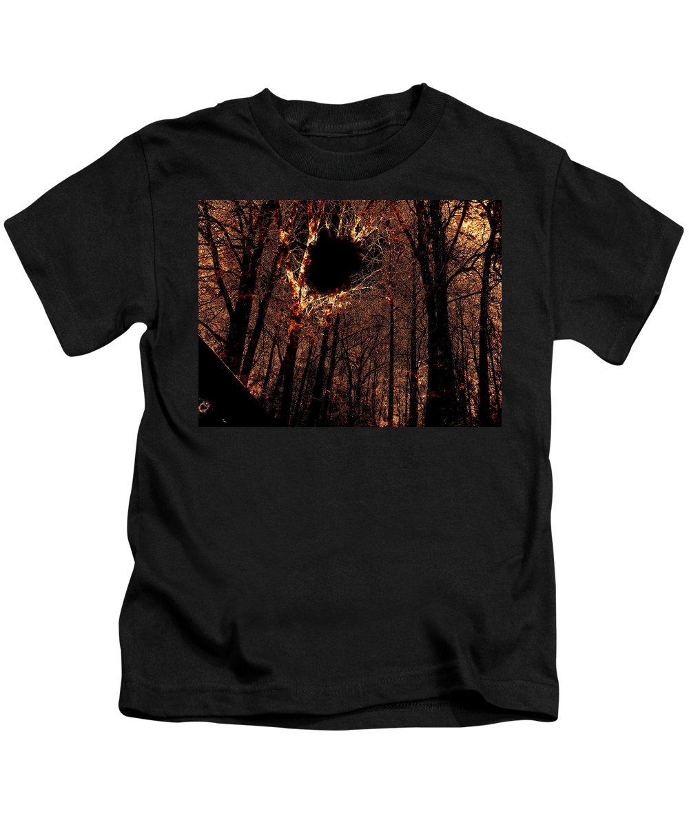 Fire Kids T-Shirt featuring the photograph Black Hole Sun by Charleen Treasures