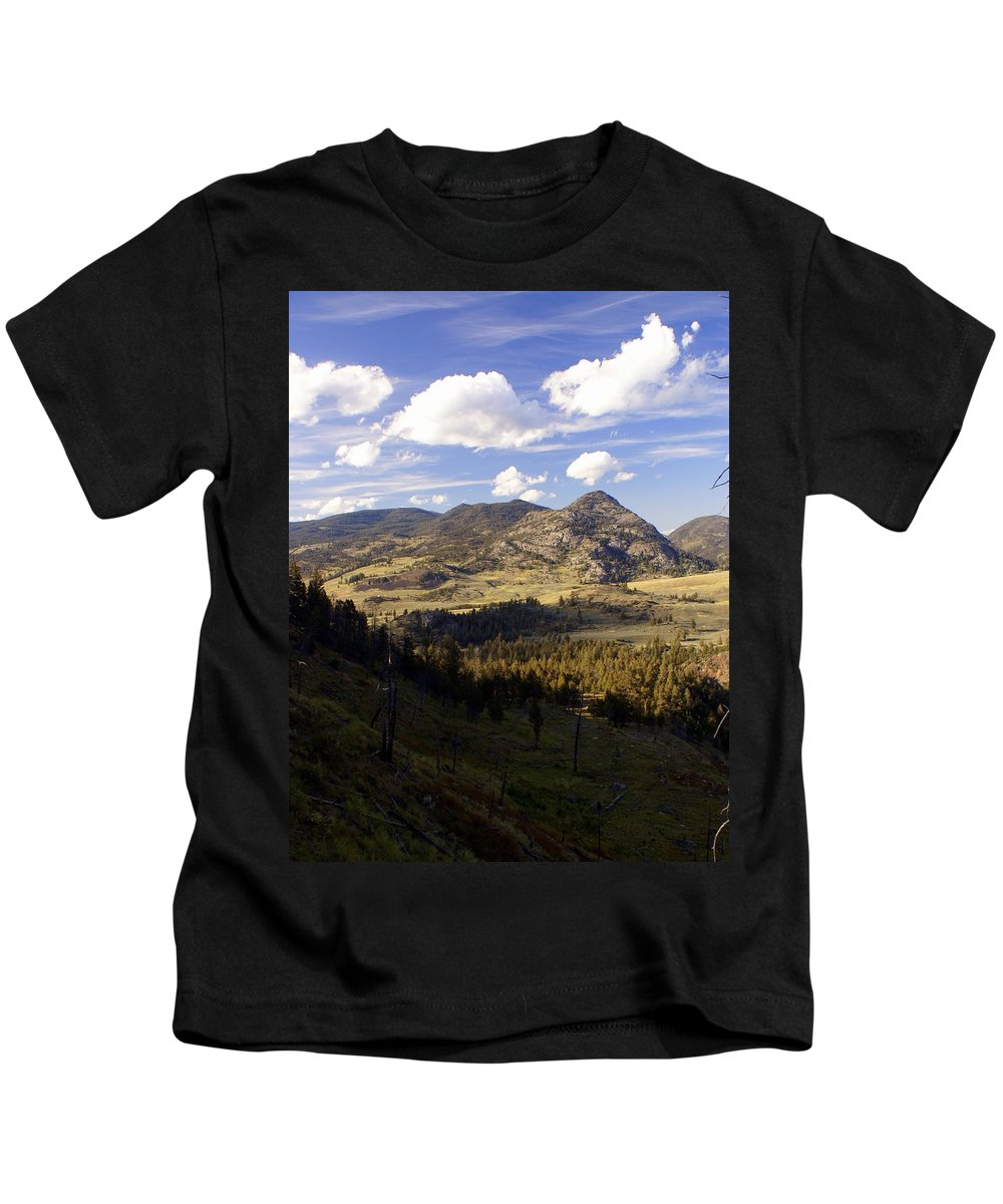 Yellowstone National Park Kids T-Shirt featuring the photograph Blacktail Road Landscape by Marty Koch