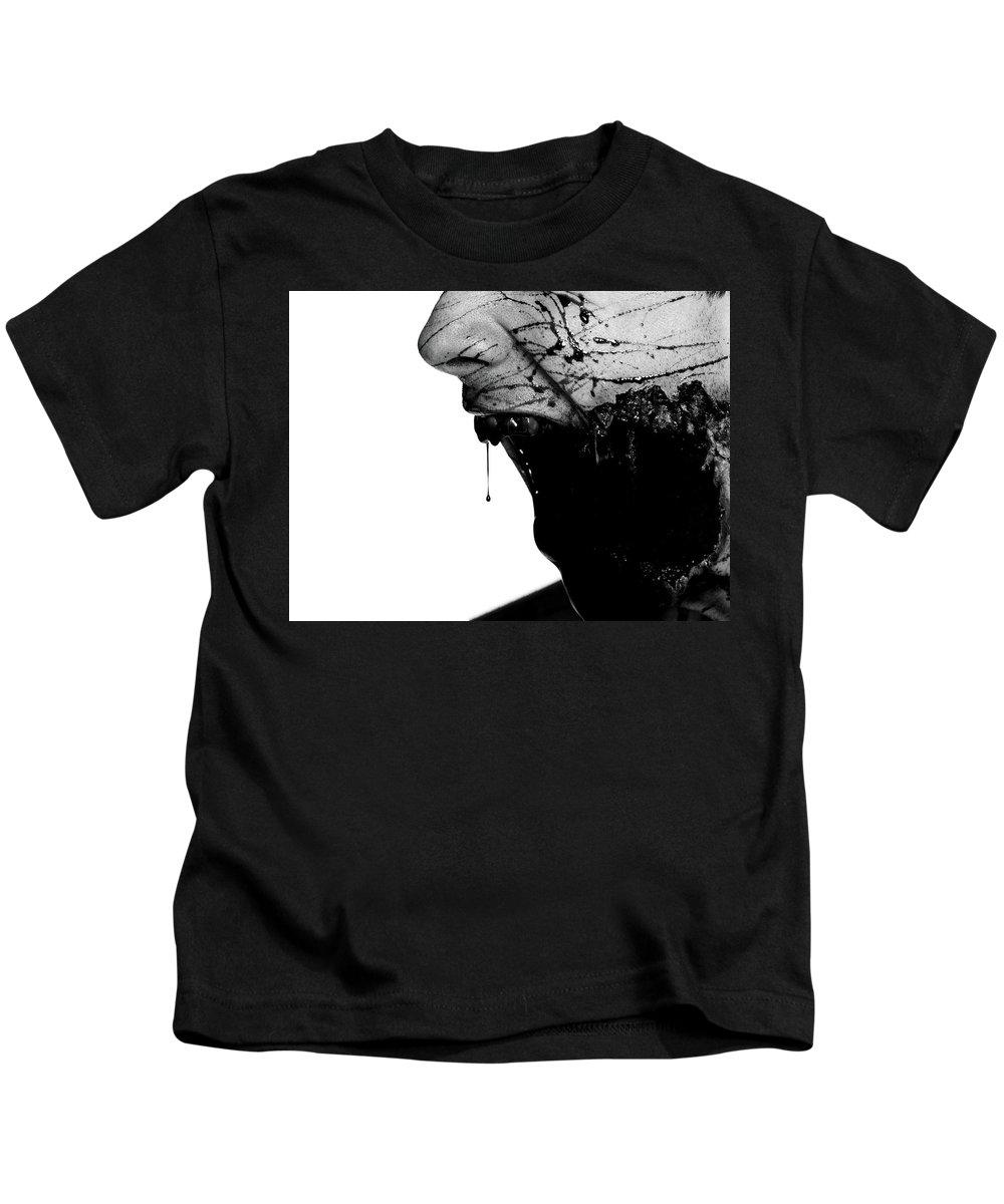 Bleeding Through Kids T-Shirt featuring the digital art Bleeding Through by Dorothy Binder