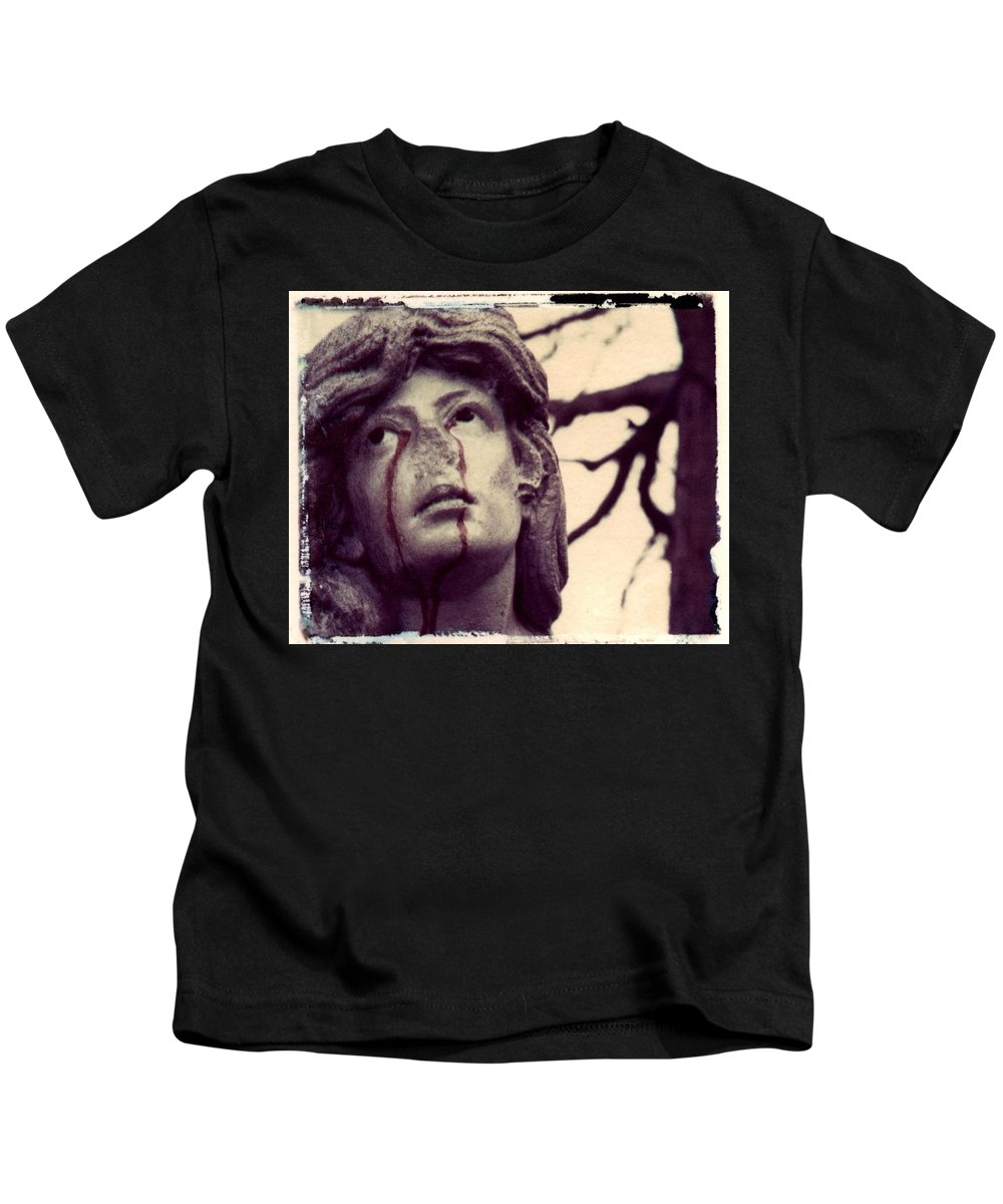 Polaroid Kids T-Shirt featuring the photograph Blood Is The New Black by Jane Linders