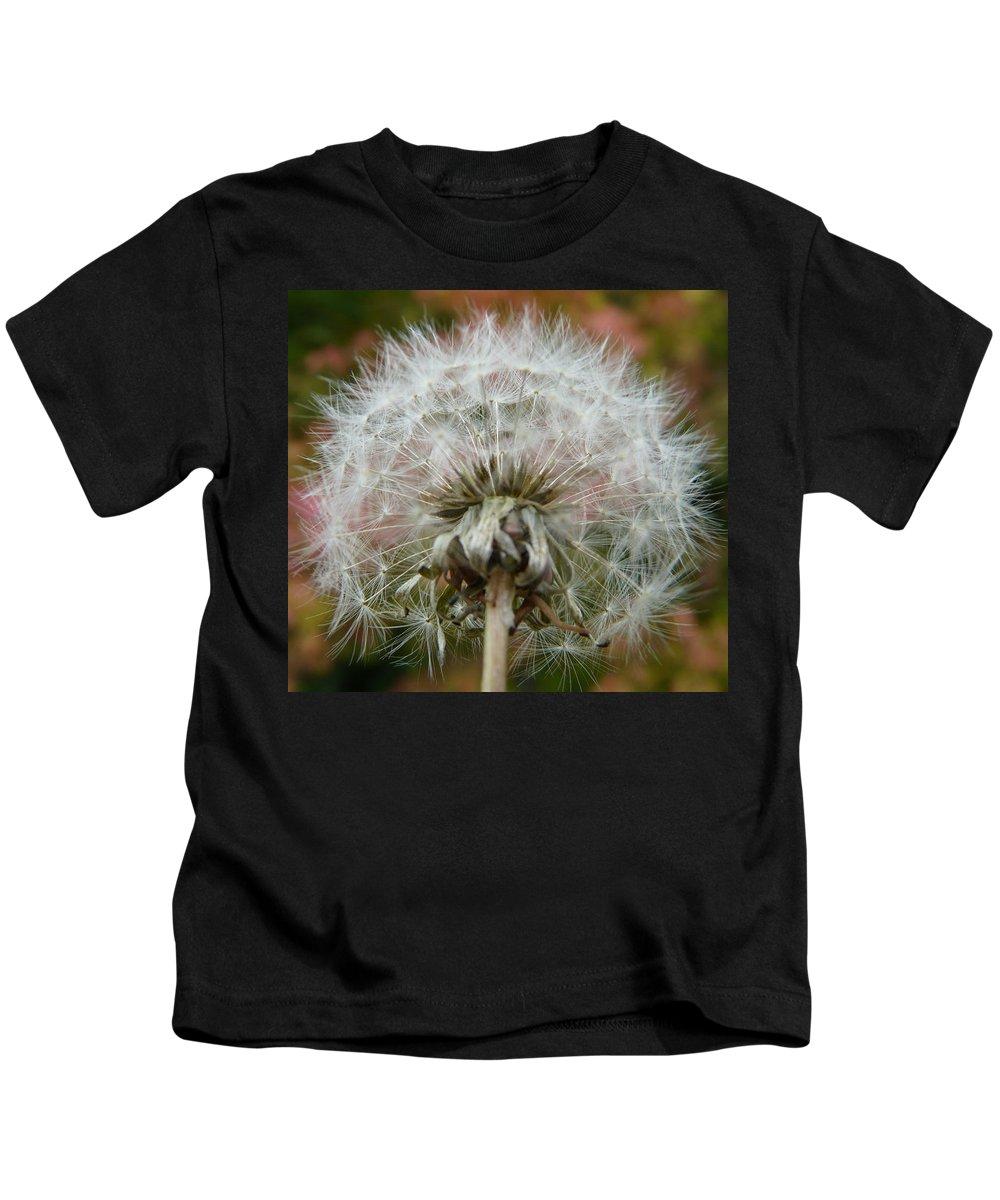 Blowball Kids T-Shirt featuring the photograph Blowball 2 by Valerie Ornstein