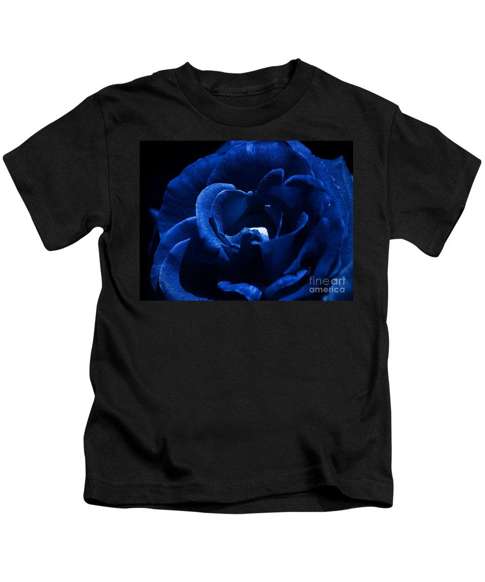 Clay Kids T-Shirt featuring the photograph Blue Blue Rose by Clayton Bruster