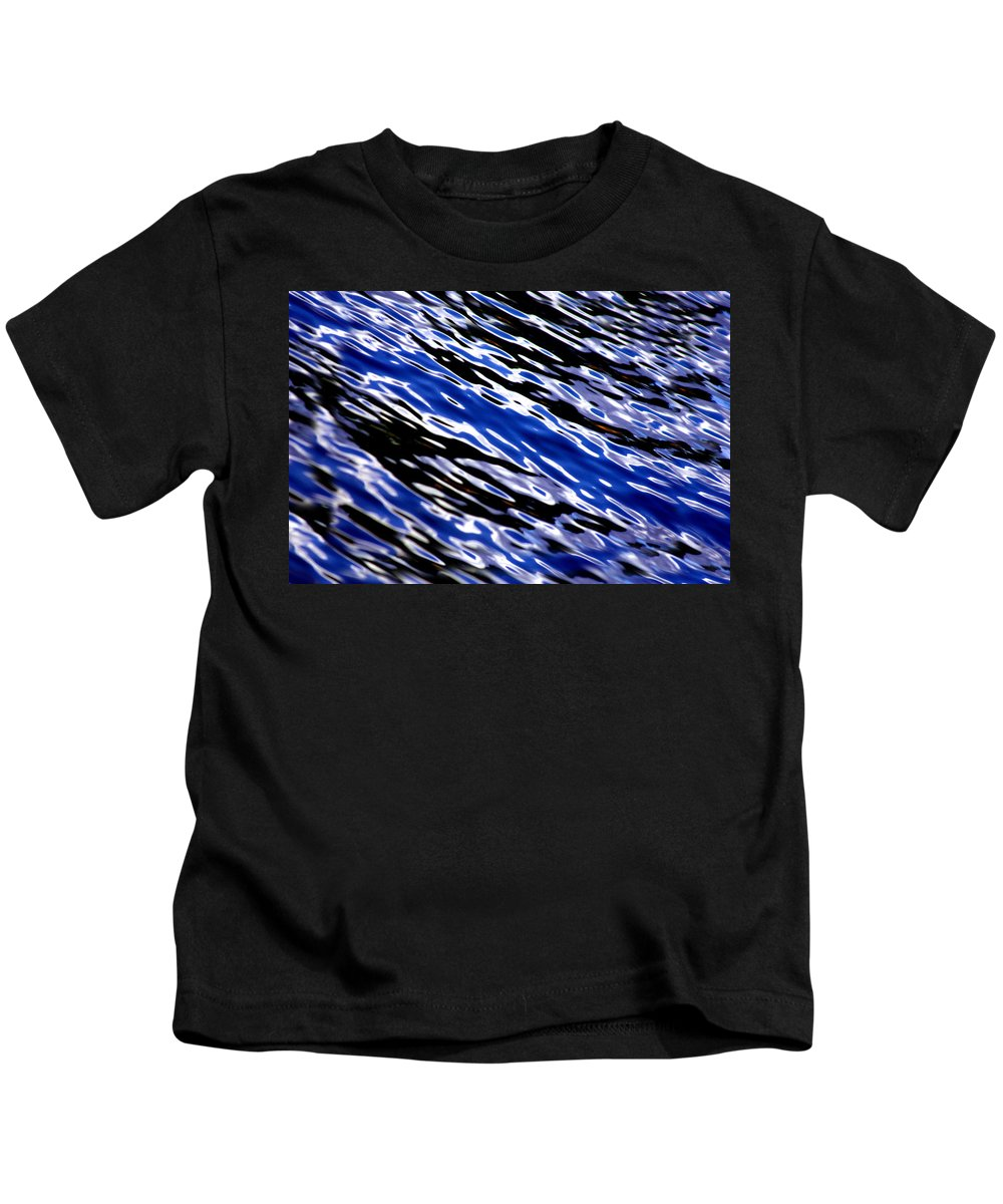 Water Kids T-Shirt featuring the photograph Blue Current by Donna Blackhall