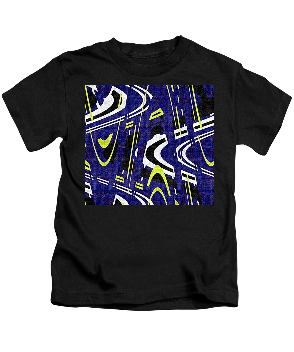 Blue Drawing Abstract Kids T-Shirt featuring the photograph Blue Drawing Abstract by Tom Janca