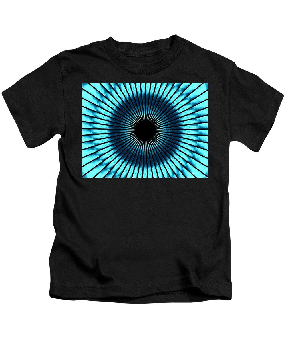 Blue Kids T-Shirt featuring the digital art Blue Eye by Charleen Treasures