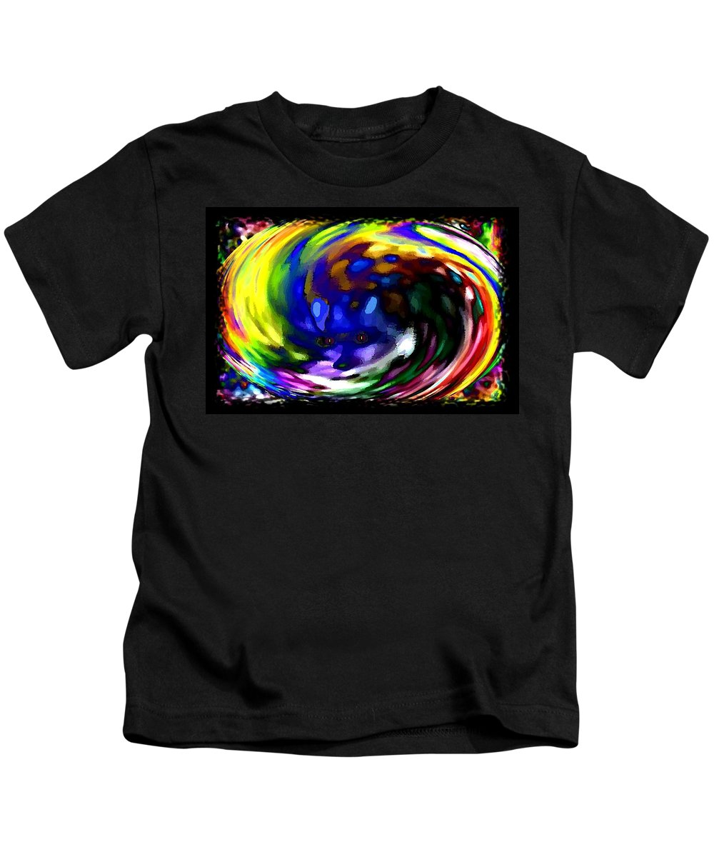 Abstract Kids T-Shirt featuring the digital art Blue Fox by Will Borden