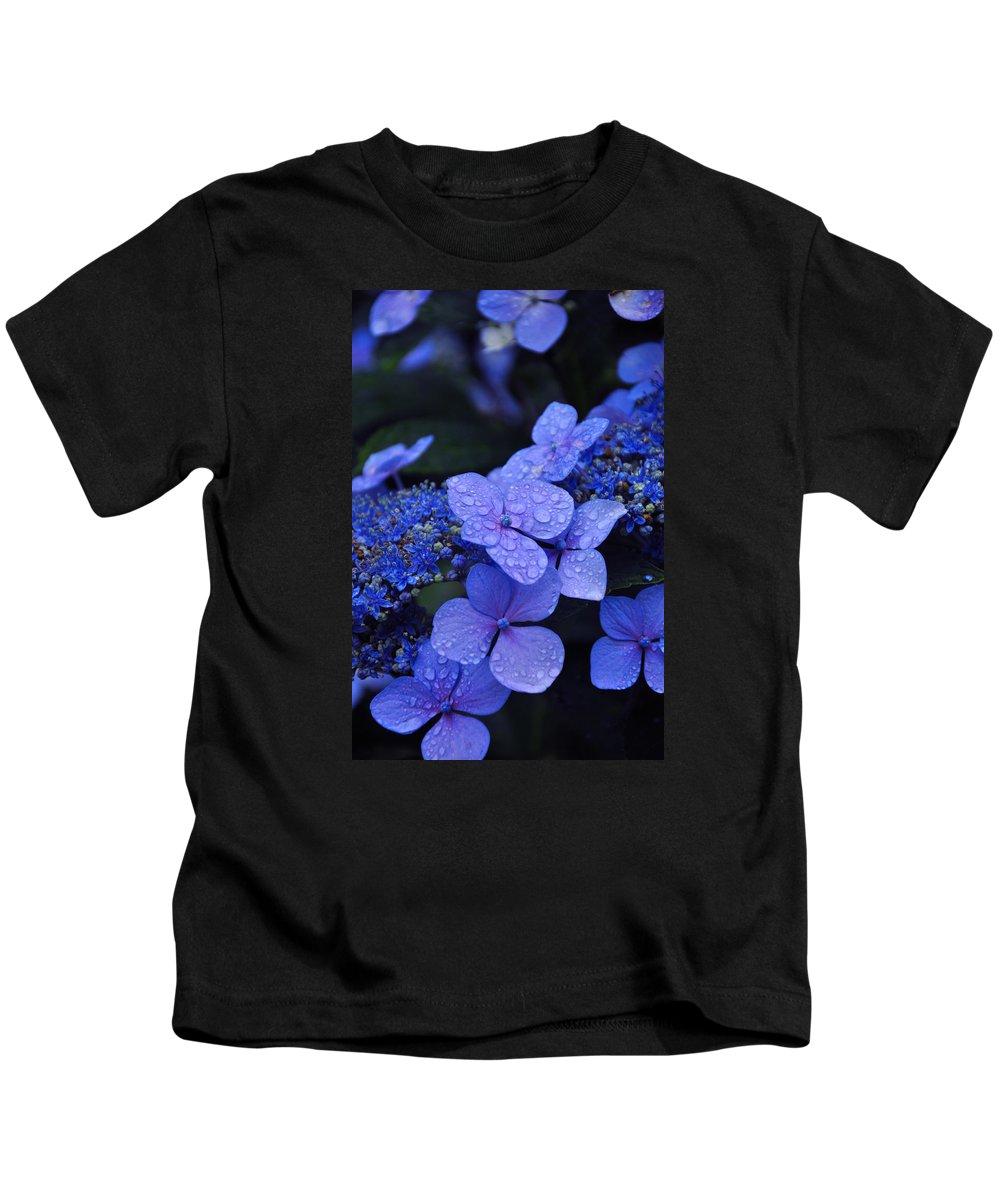 Flowers Kids T-Shirt featuring the photograph Blue Hydrangea by Noah Cole