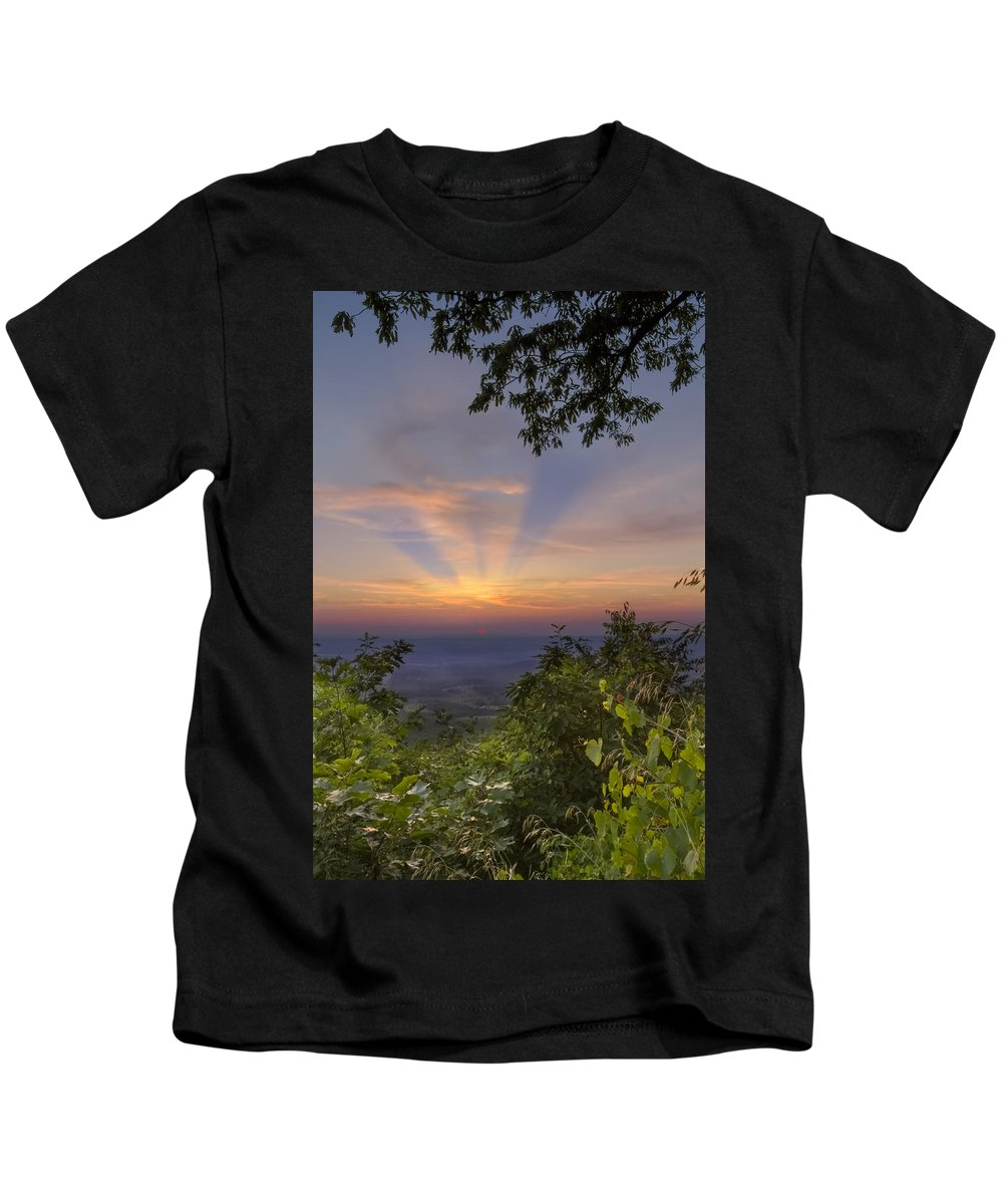 Fine Kids T-Shirt featuring the photograph Blue Ridge Mountain Sunset by Debra and Dave Vanderlaan