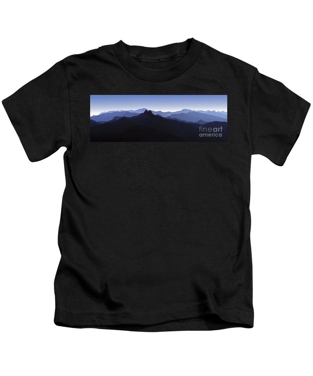 Blue Ridge Mountains Kids T-Shirt featuring the photograph Blue Ridge Mountains. Pacific Crest Trail by David Zanzinger