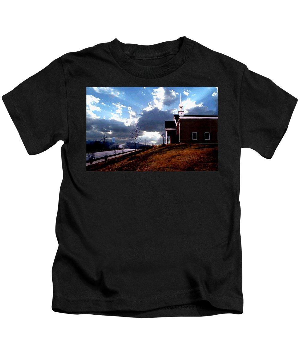 Landscape Kids T-Shirt featuring the photograph Blue Springs Landscape by Steve Karol