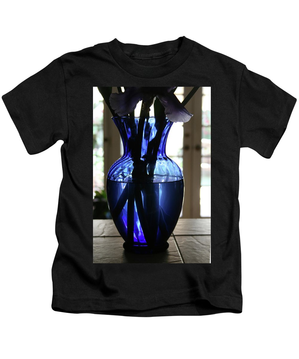 Vase Kids T-Shirt featuring the photograph Blue Vase by Marna Edwards Flavell