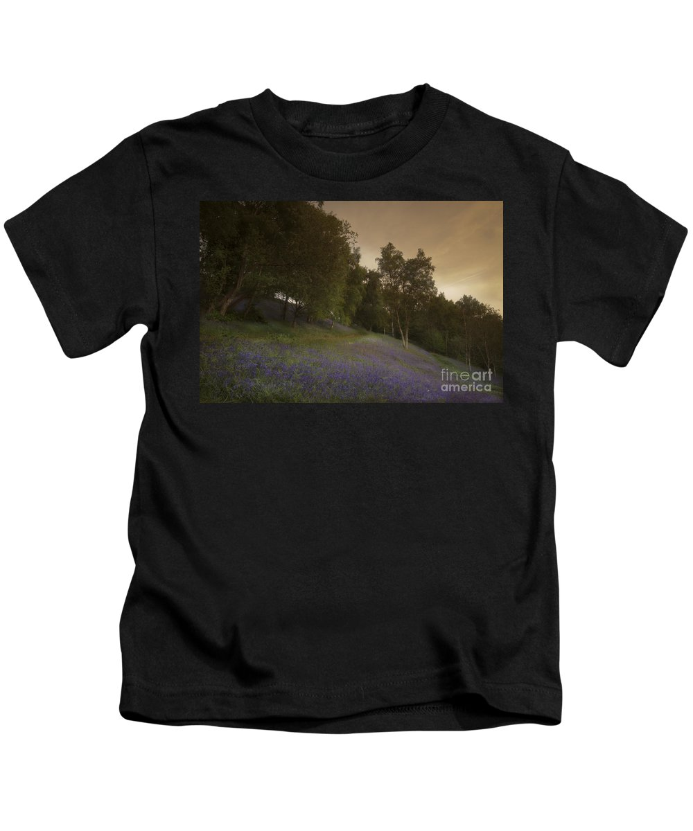 Bluebell Kids T-Shirt featuring the photograph Bluebells by Angel Ciesniarska