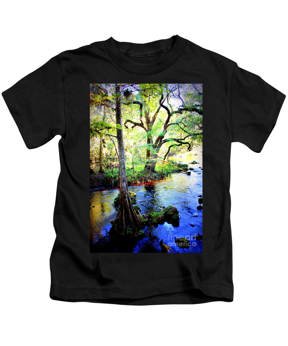Florida Kids T-Shirt featuring the photograph Blues In Florida Swamp by Carol Groenen
