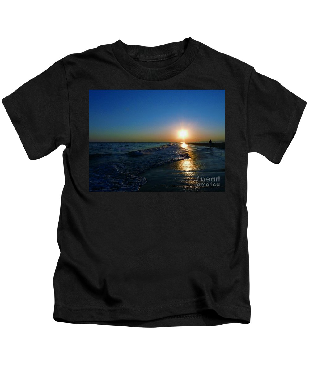 Landscape Kids T-Shirt featuring the photograph Blues In The Evening by Kendall Eutemey