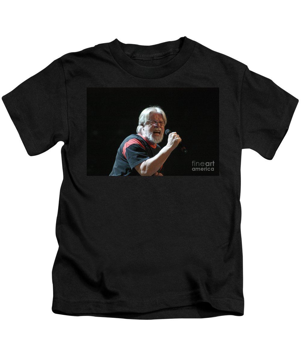 Bob Seger Kids T-Shirt featuring the photograph Bob Seger 3727 by Gary Gingrich Galleries