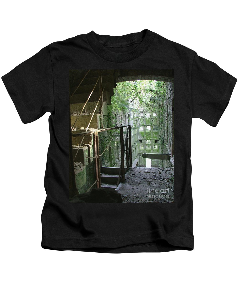 England Kids T-Shirt featuring the photograph Bodmin Gaol Cornwall England by Heather Lennox