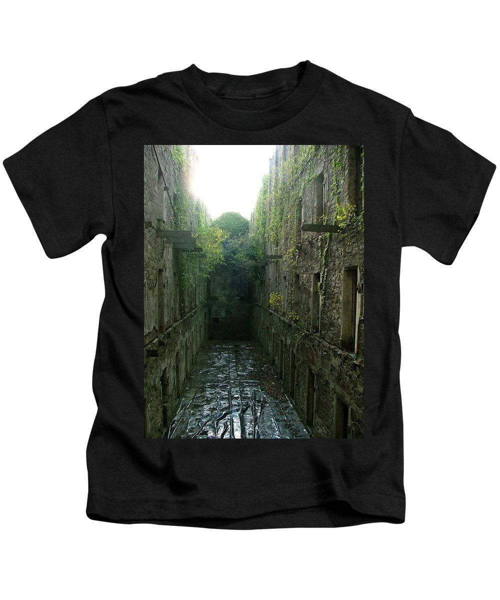 Bodmin Kids T-Shirt featuring the photograph Bodmin Gaol by Heather Lennox