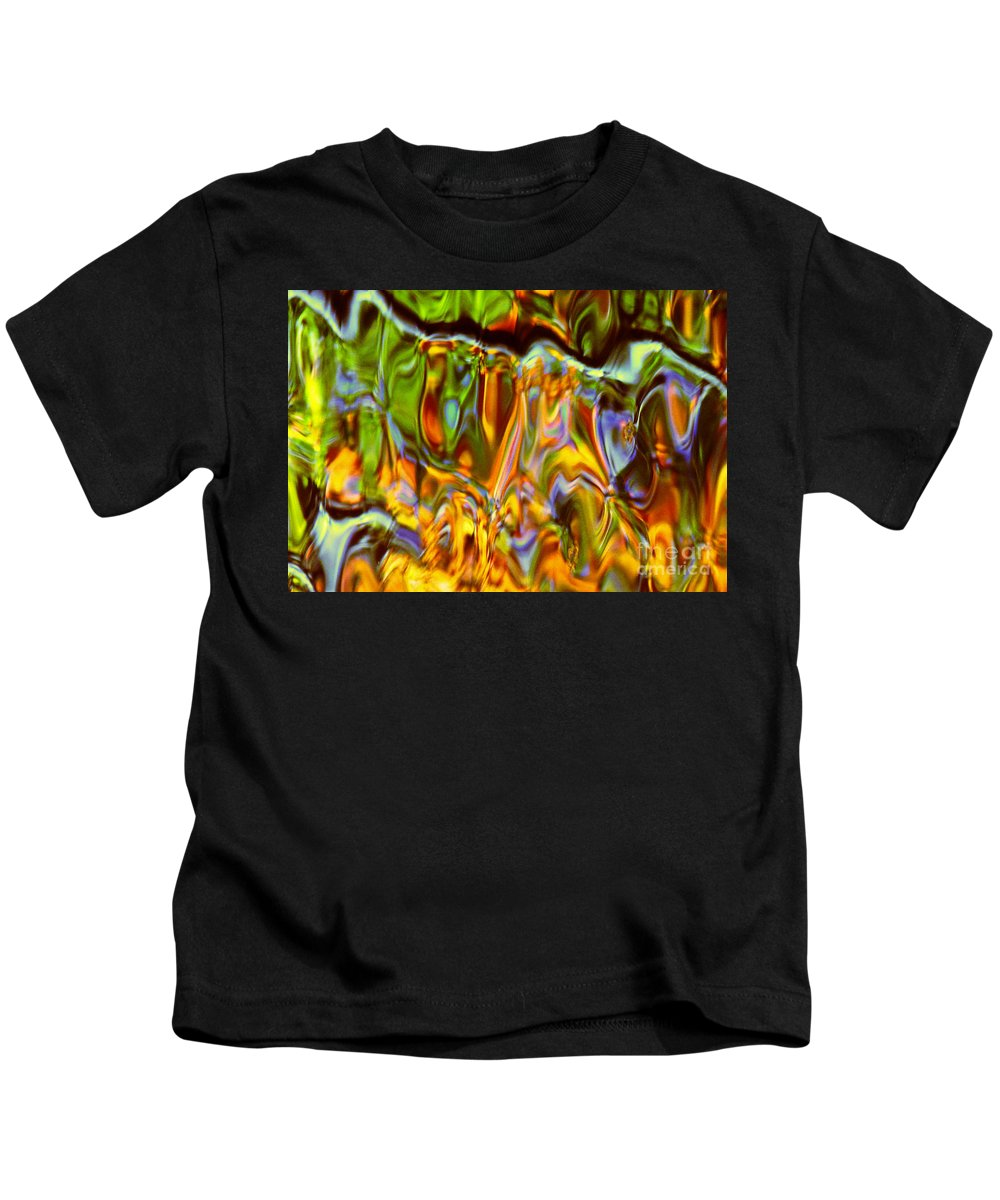 Abstract Kids T-Shirt featuring the photograph Boisterous Bellows Of Colors by Sybil Staples